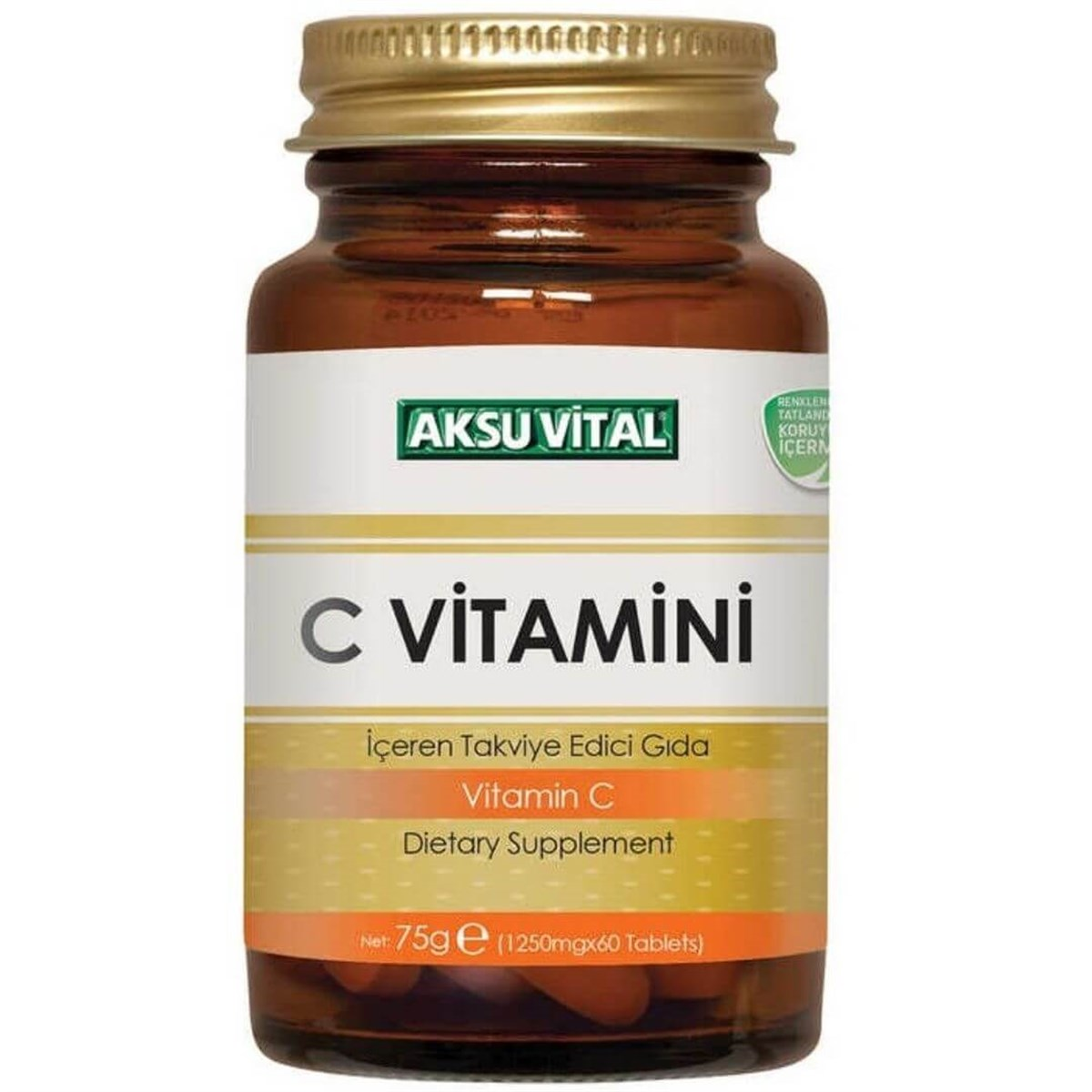 Aksu Vital C Vitamini Tablet 60x1250mg